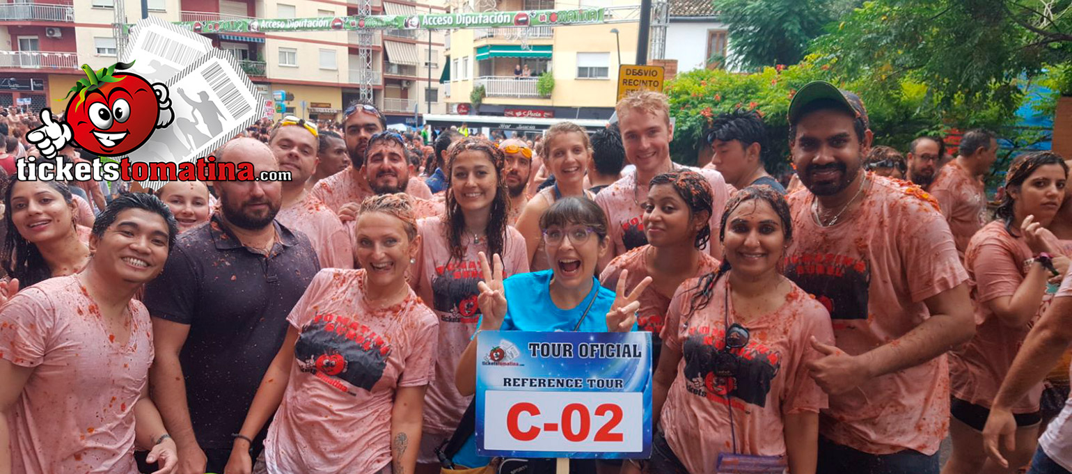 Tomatina 2019 Ticket from Valencia VIP + Bus + Tour Guide + T-Shirt